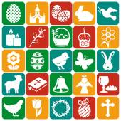 Happy Easter! Set of vector icons. — Stock Vector