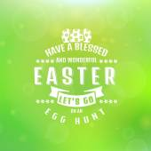Vector Easter card. Blurred background. — Vector de stock