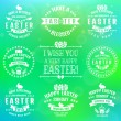 Easter typography badges. Vector set. — Stock Vector #68948507