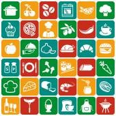 Food and cooking icons — Stock Vector