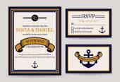 Sea wedding invitation. — Stock Vector