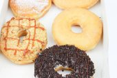 Assorted donut on white — Stock Photo