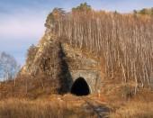 Autumn railroad — Stock Photo