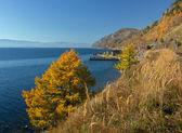 Autumn Circum-Baikal Railway — Stock Photo