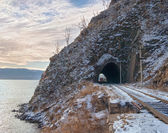 Late autumn in the Circum-Baikal Railway — Stock Photo