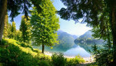 The alpine lake — Stock Photo