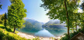 Ritza lake panorama — Stock Photo
