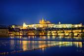 Castle and the St. Charles Bridge — Stock Photo