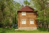 Wooden house on a sunny day. — Stock Photo
