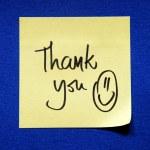 Thank you sticker — Stock Photo #69721301
