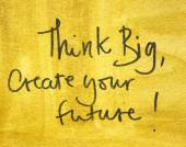 Create your future message — Stock Photo