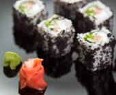 Japanese Cuisine - Sushi roll — Stock Photo