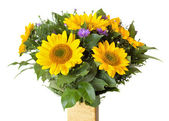 Bouquet with sunflowers — Stock Photo