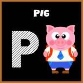 The English alphabet letter P — Stock Vector
