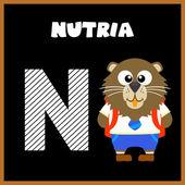 Litery alfabetu angielskiego N — Wektor stockowy