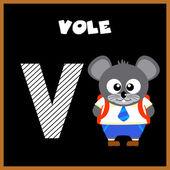 英语字母表字母 V — 图库矢量图片