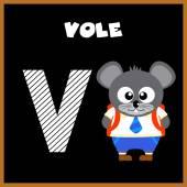 The English alphabet letter V — Stock Vector
