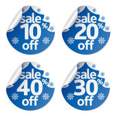 Christmas sale stickers set — Stock Vector