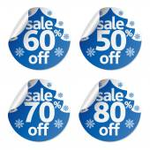 Set Christmas sale stickers  — Stock Vector