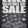 Big Sale Valentine's Day chalkboard card — Stock Vector #61929385