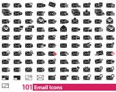 101 Email Icons vector — Stock Vector