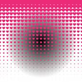 Hearts pattern embossed background — Stock Vector