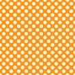 Seamless vector light polka dots pattern on orange background — Stock Vector #73994647
