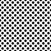 Seamless vector black polka dots pattern on white background — Stock Vector