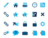 Stock Vector blue web and office icons in high resolution. — Stock Vector