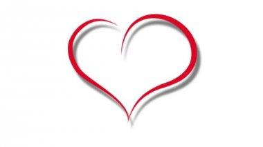 Heart drawn — Stock Video