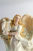 Christmas decor (ceramic angel) — Stock Photo