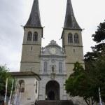 Church of St. Leodegar (Hofkirche) in Lucerne, Switzerland — Stock Photo #70847179