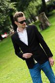 Attractive man with sunglasses — ストック写真
