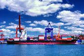貨物船 — ストック写真