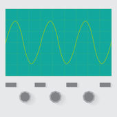 Sine wave oscilloscope — Stock Vector