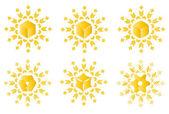 Sun weath abstract patterns — Stock Vector