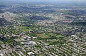 蒙特利尔的鸟瞰图 — 图库照片
