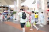 Blurred people walking in the market — Stok fotoğraf