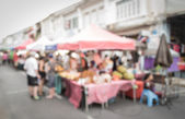 Blurred people on the street — Stock Photo