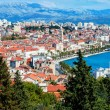 Panoramic view from high on Croatian city of Split — Stock Photo #51900711