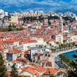 Panoramic view from high on Croatian city of Split — Stock Photo #51900889