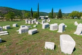 Many monumental medieval tombstones lie scattered in Herzegovina — Stock Photo