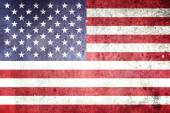 Flag of the United States of America. Grungy effect. — Stock Photo