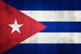 National flag of Cuba. Grungy effect. — Stock Photo