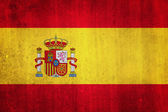National flag of Spain. Grungy effect. — Stock Photo