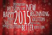 Word cloud filled with positive attitude for the new year 2015 — Stock Vector