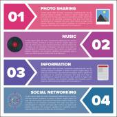 Modern infographic template with place for custom content — Stock Vector