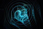 Abstract fractal texture. Visualization  of complex equations. — Stock Photo