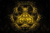 Abstract symmetrical fractal texture. Visualization of complex equations. — Stock Photo