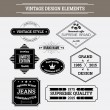 Vintage vector design elements. Retro style typographic labels — Stock Vector #66125135